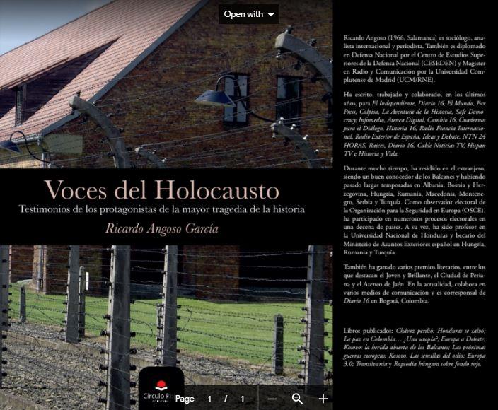 EL HOLOCAUSTO CONTADO EN PRIMERA PERSONA